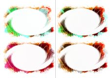Frame set on the grunge colored background 06 Stock Images