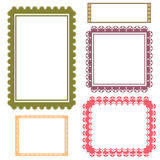 Frame set vector Royalty Free Stock Photography