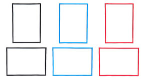 Frame Sets in Three Colors Stock Photography