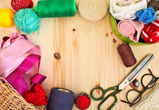 Frame of sewing Royalty Free Stock Images