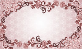 Frame in shades of pink and brown with embossed or Stock Photography