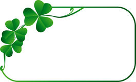 Frame with shamrock Royalty Free Stock Photos