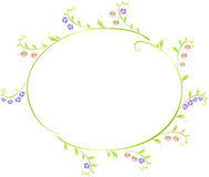 Frame in the shape of an ellipse of berries and Stock Images