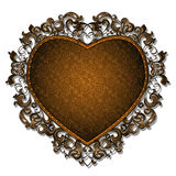 Frame in the shape of heart for picture or photo. With shadow on white background Royalty Free Stock Photos