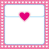 Frame shaped from white heart on pink background Royalty Free Stock Photography