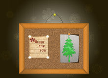 FRAME AND SHEET- HAPPY NEW YEAR. Stock Photography
