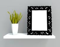 Frame on shelf Royalty Free Stock Photography