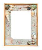 Frame shell for picture on isolate white Royalty Free Stock Images