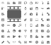Frame, Shot, Cadre icon. Media, Music and Communication vector illustration icon set. Set of universal icons. Set of 64 icons.  Royalty Free Stock Photos