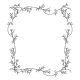 Frame with silhouette creepers nature design Royalty Free Stock Photo