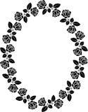 Frame. Silhouette of rose frame - vector illustration Royalty Free Stock Images