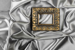 frame  with silk textured Royalty Free Stock Photography