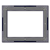 Frame silver color with shadow Stock Photo