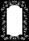 Frame of silver leaf in old style on a black backg Stock Photo