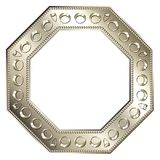 Frame Silver - Octagon 2 Royalty Free Stock Photography