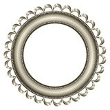 Frame Silver - Round 2 Royalty Free Stock Images