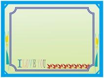 Frame simples do scrapbook Ilustração Royalty Free