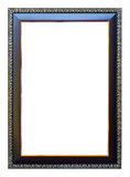 Frame size 8 X 12 color dark oak with gold trim. Stock Photography