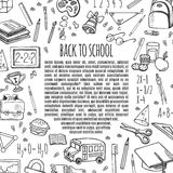 Frame sketch back to school icons design illustration. Royalty Free Stock Photos