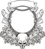 Frame with skull in Art Nouveau style Stock Image