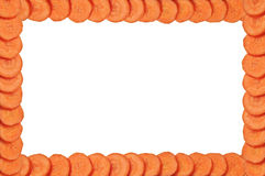 Frame of sliced carrots Royalty Free Stock Photos