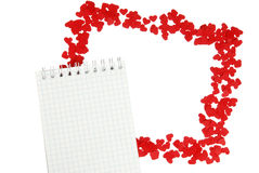 Frame of small red hearts Stock Photos