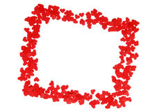 Frame of small red hearts Stock Images