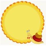 Frame with snail illustration Stock Image