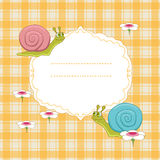 Frame with snail Stock Photos