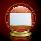 Frame - Snow Globe. This graphic is Snow Globe Royalty Free Stock Image