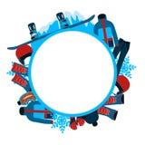 Frame snowboarding Royalty Free Stock Photo