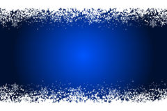 Frame with snowflakes. Blue frame with white snowflakes Stock Photography