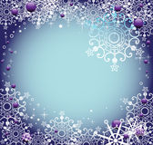 Frame with snowflakes Royalty Free Stock Photos