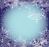 Frame with snowflakes Royalty Free Stock Photos