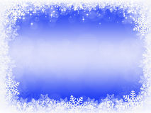 Frame from snowflakes Royalty Free Stock Photos