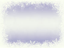 Frame from snowflakes Royalty Free Stock Image