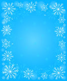 Frame with snowflakes Stock Images