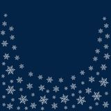 Frame of snowflakes. Christmas background. To design posters, postcards, greeting, invitation for the new year. Vector illustration Royalty Free Stock Photography