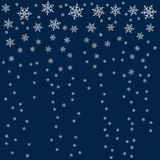 Frame of snowflakes. Christmas background. To design posters, postcards, greeting, invitation for the new year. Vector illustration Royalty Free Stock Photos