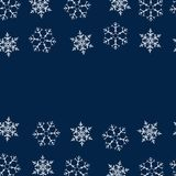 Frame of snowflakes. Christmas background. To design posters, postcards, greeting, invitation for the new year. Vector illustration Stock Images
