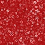 Frame of snowflakes. Christmas festive background. To design posters, postcards, greeting, invitation for the new year. Vector illustration Stock Image