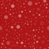 Frame of snowflakes. Christmas festive background. To design posters, postcards, greeting, invitation for the new year. Vector illustration Stock Photography