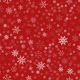 Frame of snowflakes. Christmas festive background. To design posters, postcards, greeting, invitation for the new year. Vector illustration Stock Photo