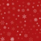 Frame of snowflakes. Christmas festive background. To design posters, postcards, greeting, invitation for the new year. Vector illustration Stock Photos
