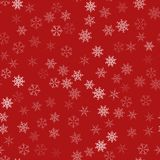 Frame of snowflakes. Christmas festive background. To design posters, postcards, greeting, invitation for the new year. Vector illustration Royalty Free Stock Photos