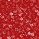 Frame of snowflakes. Christmas festive background. To design posters, postcards, greeting, invitation for the new year. Vector illustration Royalty Free Stock Photo