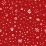 Frame of snowflakes. Christmas festive background. To design posters, postcards, greeting, invitation for the new year. Vector illustration Royalty Free Stock Photography