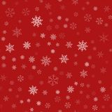 Frame of snowflakes. Christmas festive background. To design posters, postcards, greeting, invitation for the new year. Vector illustration Royalty Free Stock Image