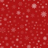 Frame of snowflakes. Christmas festive background. To design posters, postcards, greeting, invitation for the new year. Vector illustration Stock Images