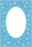 Frame with snowflakes Royalty Free Stock Photo